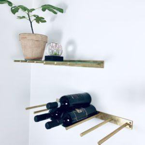 Vinranken i kobber eller messing